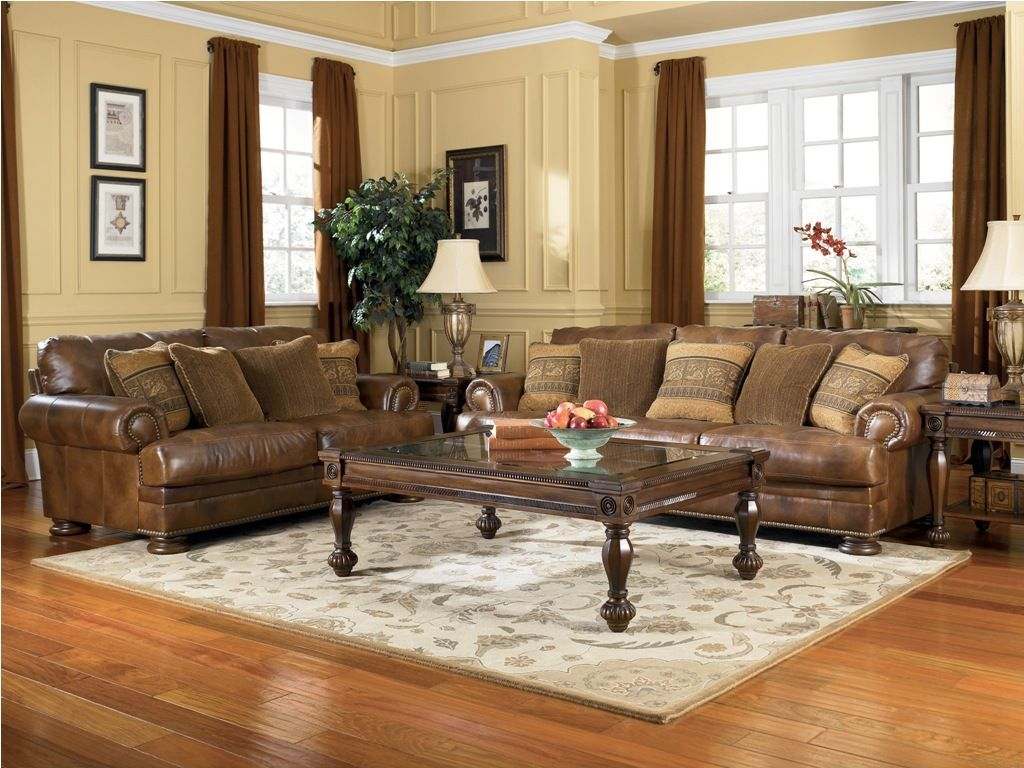 Stanton 3 piece living room set brown - Furniture Amusing Living Room Design Added With Upholstered Ashley Leather Sofa Beside Greenery Houseplant Amazing Ashley Furniture Living Room Sets