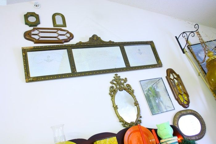 Mirror Collage - Decorating with high ceilings