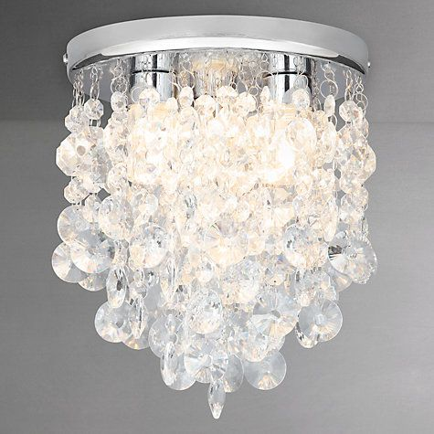 Charmant Buy John Lewis Katelyn Crystal Bathroom Flush Ceiling Light Online At  Johnlewis.com