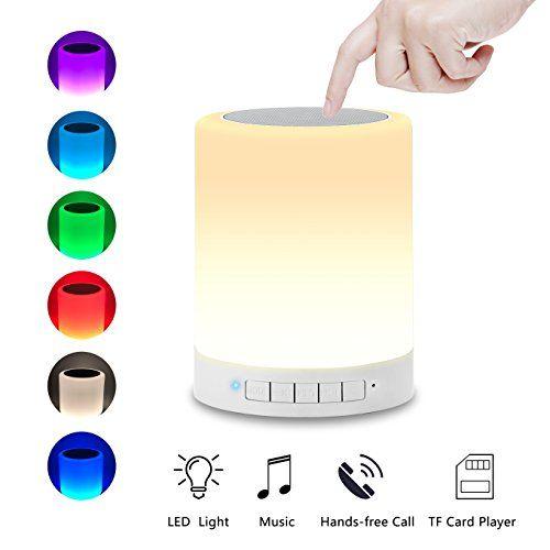 Bluetooth Speakers With Night Light Aufitker Portable Wireless Bluetooth Speaker With Led Table Lamp Wireless Speakers Bluetooth Touch Lamp Bluetooth Speakers