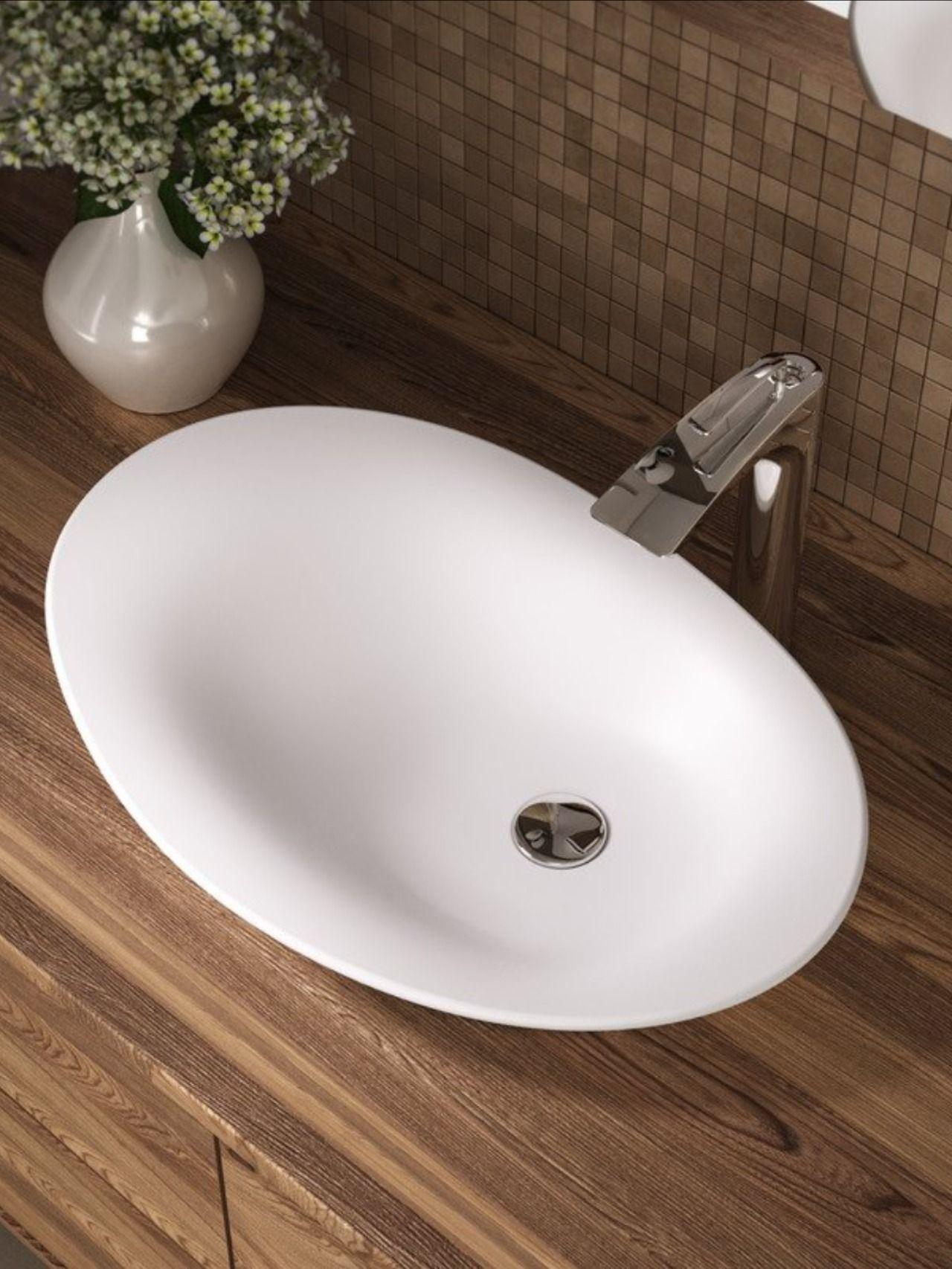 Aquatica Nanomorph Wht Stone Bathroom Vessel Sink