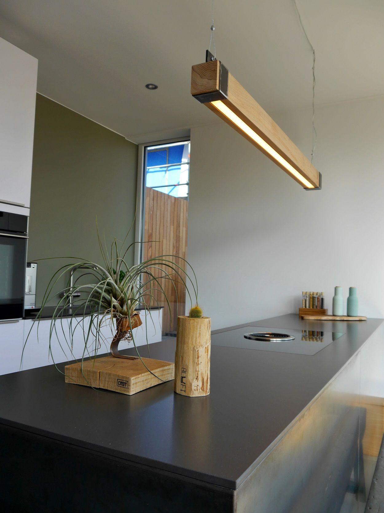 Houten Balklamp Woodlight NEW  1 Woonkamer nieuw in