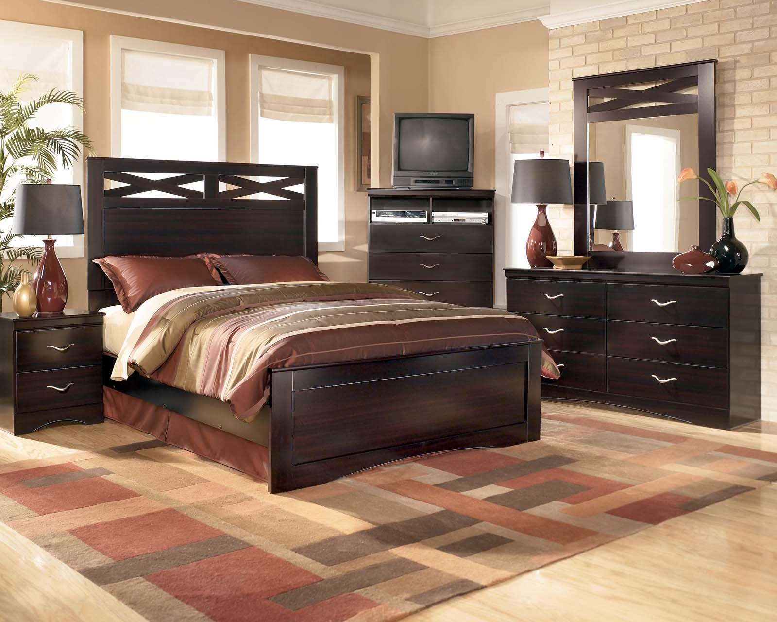 Master bedroom furniture sets  Xcess Modern Bedroom Set in Merlot  Furniture  Pinterest