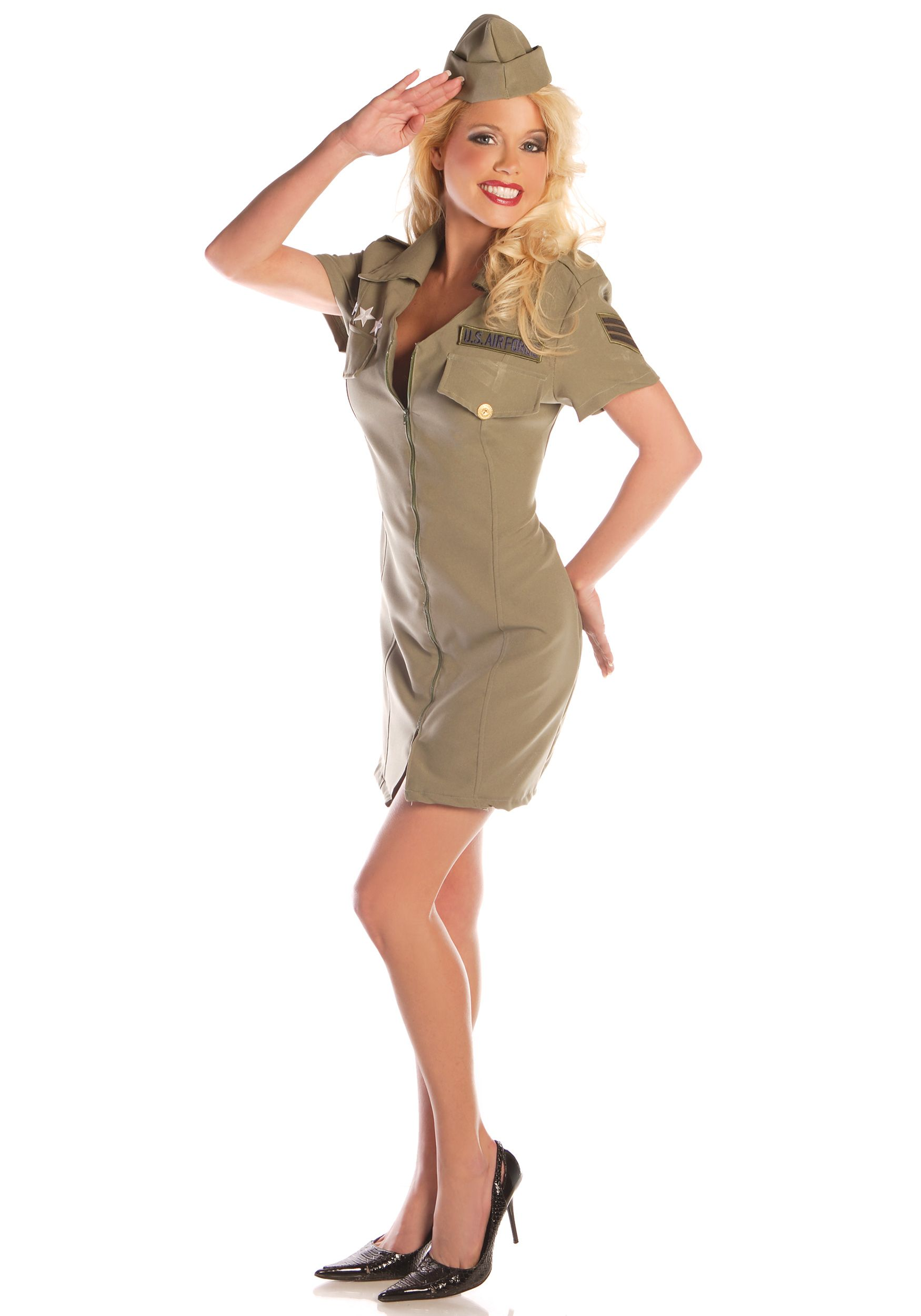Amazon Had This For 18 Sexy Fly Girl Military Costume Raw Holiday