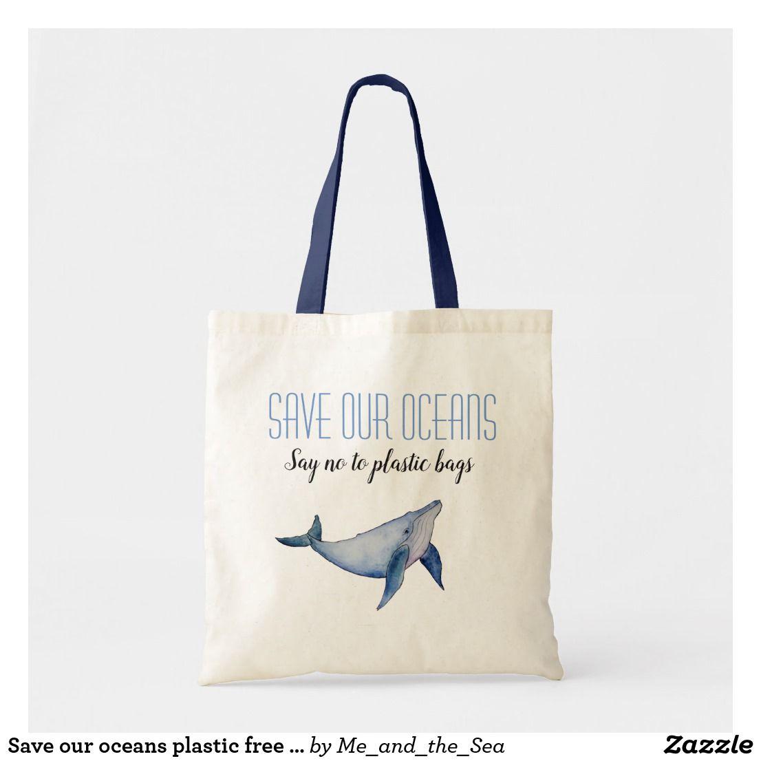 Whale Tote Bag ocean tote bag sea tote bag whale painting bag