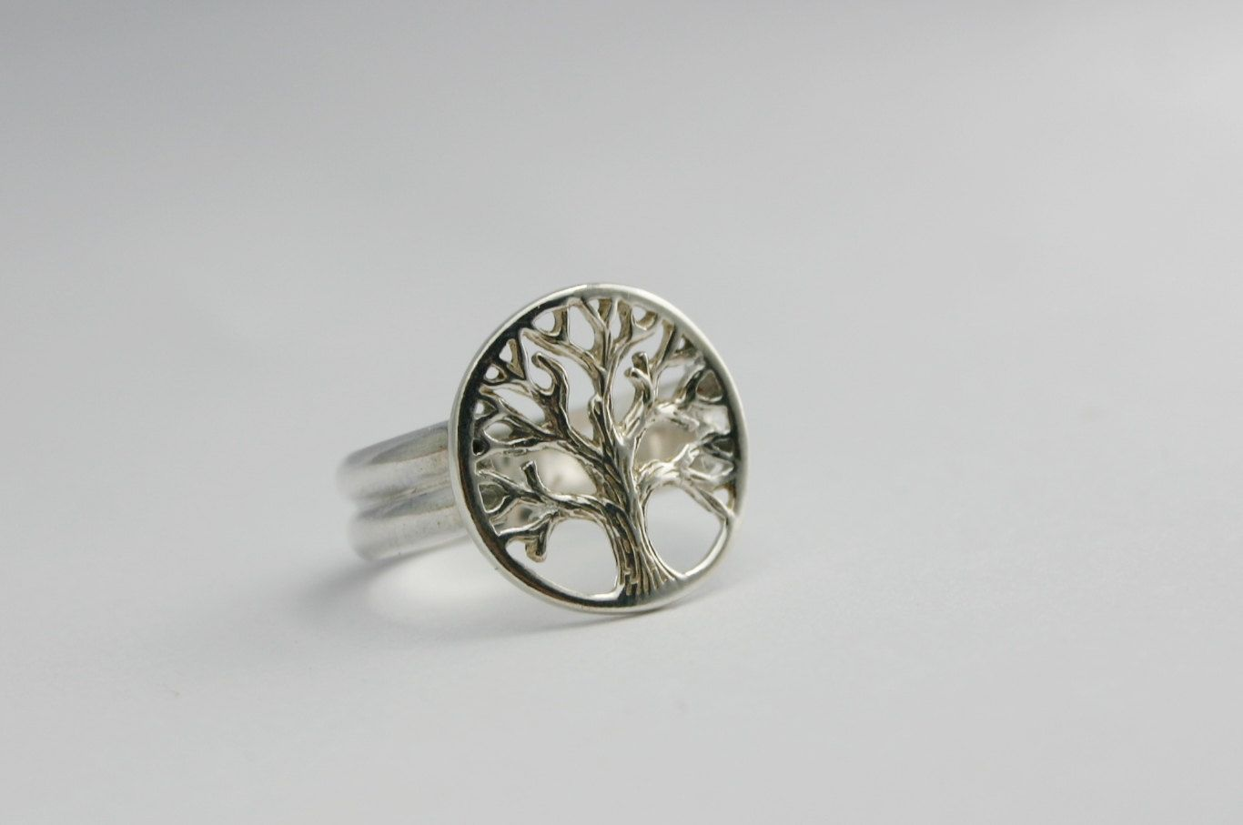 Handcrafted Sterling Silver Tree of Life Ring by LokiblueCreations on Etsy