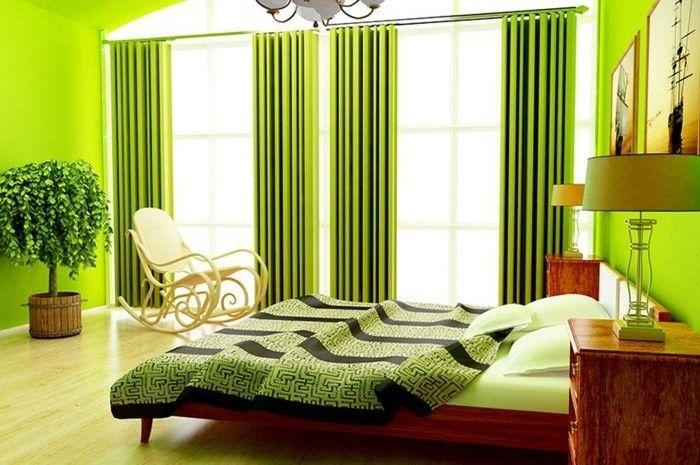 Grünes Schlafzimmer Ausstatten Wandfarben Vorschläge. Grüne SchlafzimmerWandgestaltung  ...