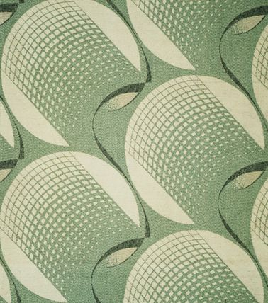 Fabric design, by O.R. Plaistow, for Courtaulds Ltd. Jacquard woven cotton and rayon. England, 1931.