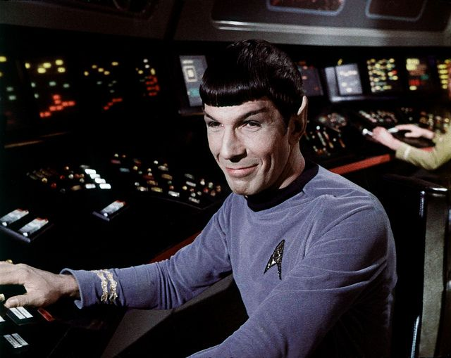 Leonard Nimoy as Smiling Mr. Spock in Star Trek
