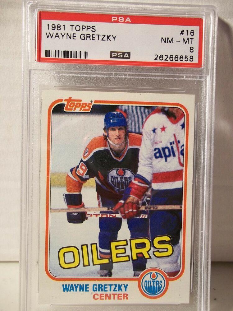 1981 Topps Wayne Gretzky PSA NMMT 8 Hockey Card 16 NHL