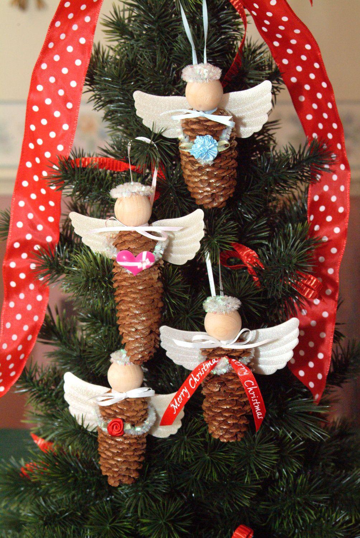 Pinecone Angel Ornament 3 99 Via Etsy Diy Christmas Tree Christmas Diy Christmas Crafts Diy