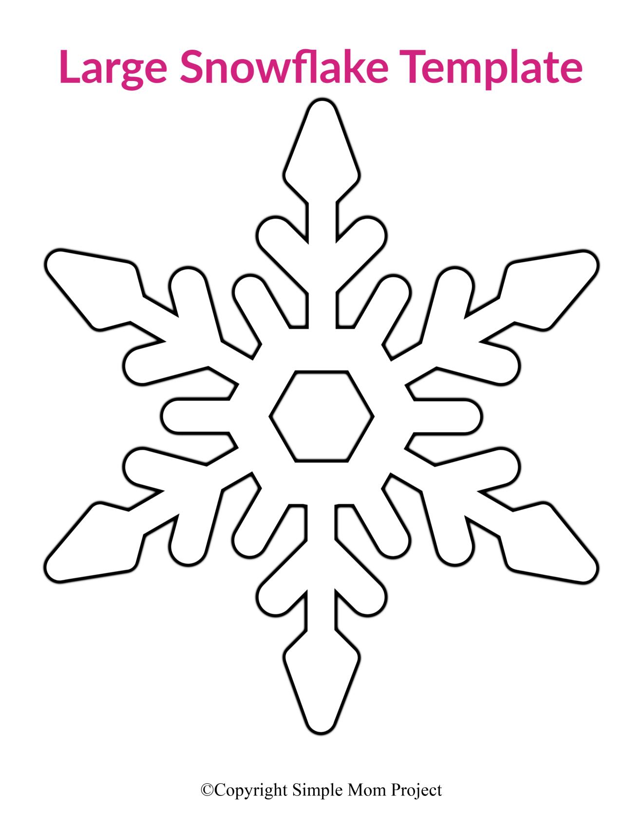 29 Free Printable Large Snowflake Templates  Snowflake coloring