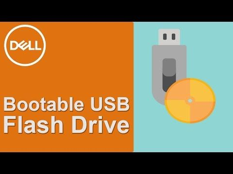 Watch how to make a bootable USB flash drive by using the Dell