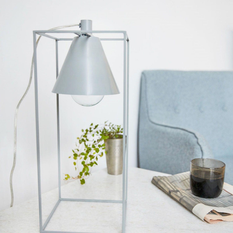 Kubix Tischleuchte Grau/weiß House Doctor   Einrichten Design.de
