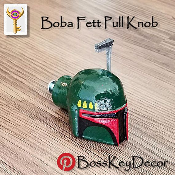 Boba Fett Star Wars Pull Knob Star Wars Geek Gamer Home Decor