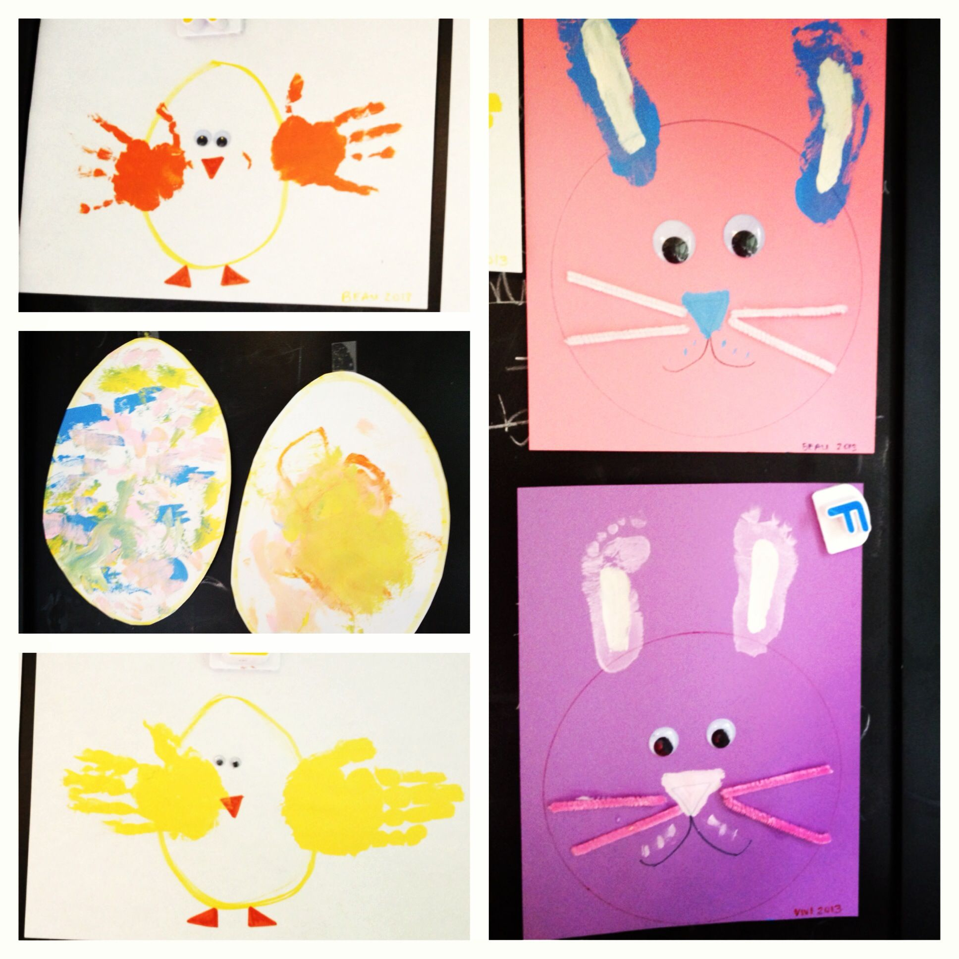 Easter art with the kiddos