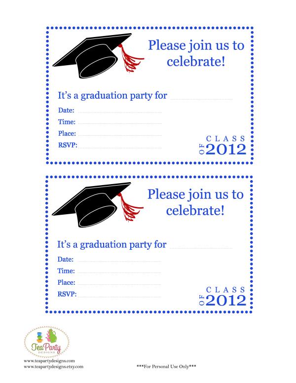 Free Print Graduation Announcements Template Invitatio