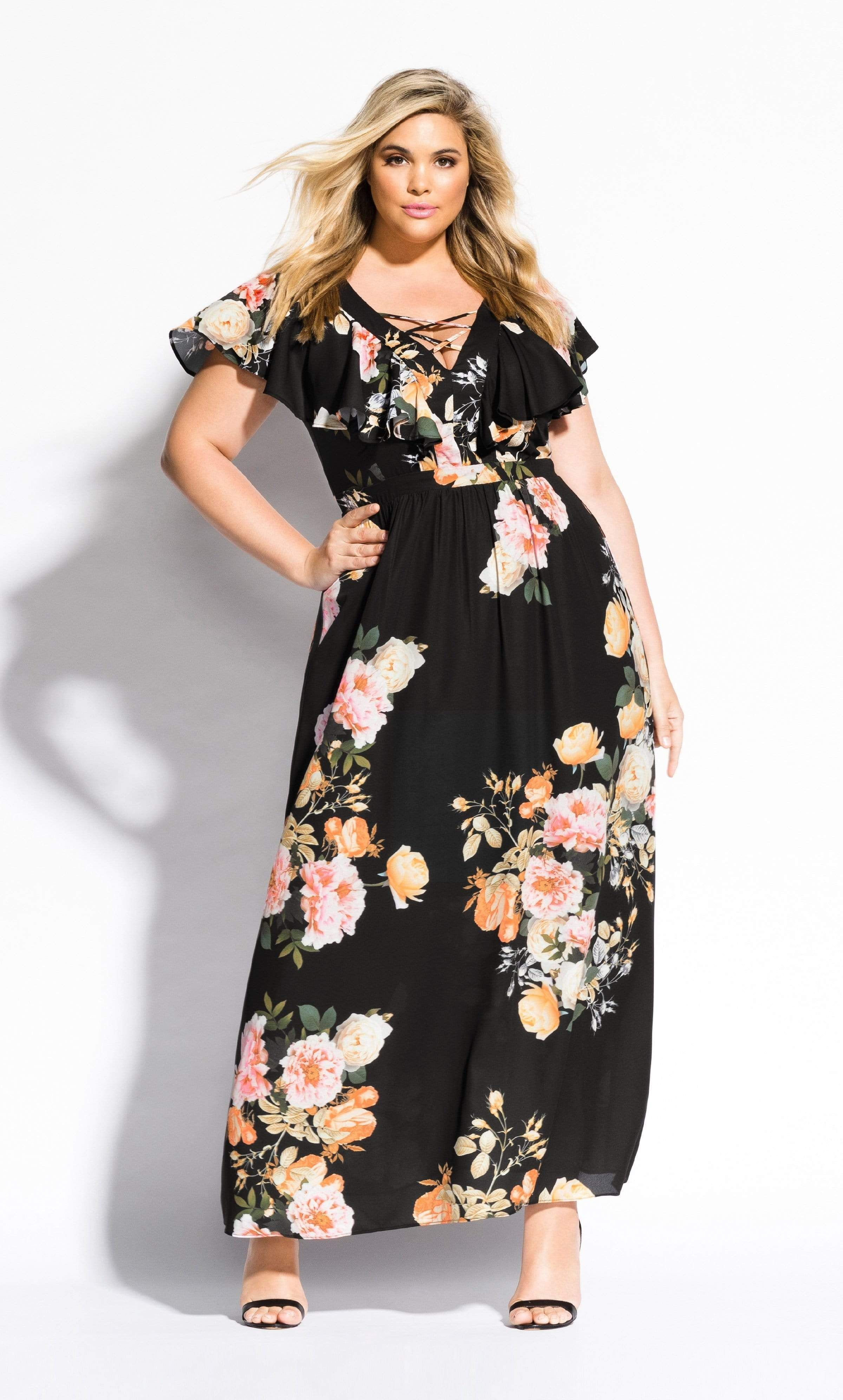 Tuscan Rose Maxi Dress Black14 Xs Rose Maxi Dress Maxi Dress Plus Size Summer Dresses [ 3984 x 2400 Pixel ]