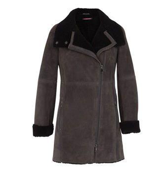 93172a445e80 Comptoir des Cotonniers, achat Manteau Posta charbon Comptoir des  Cotonniers prix promo Brandalley 995,