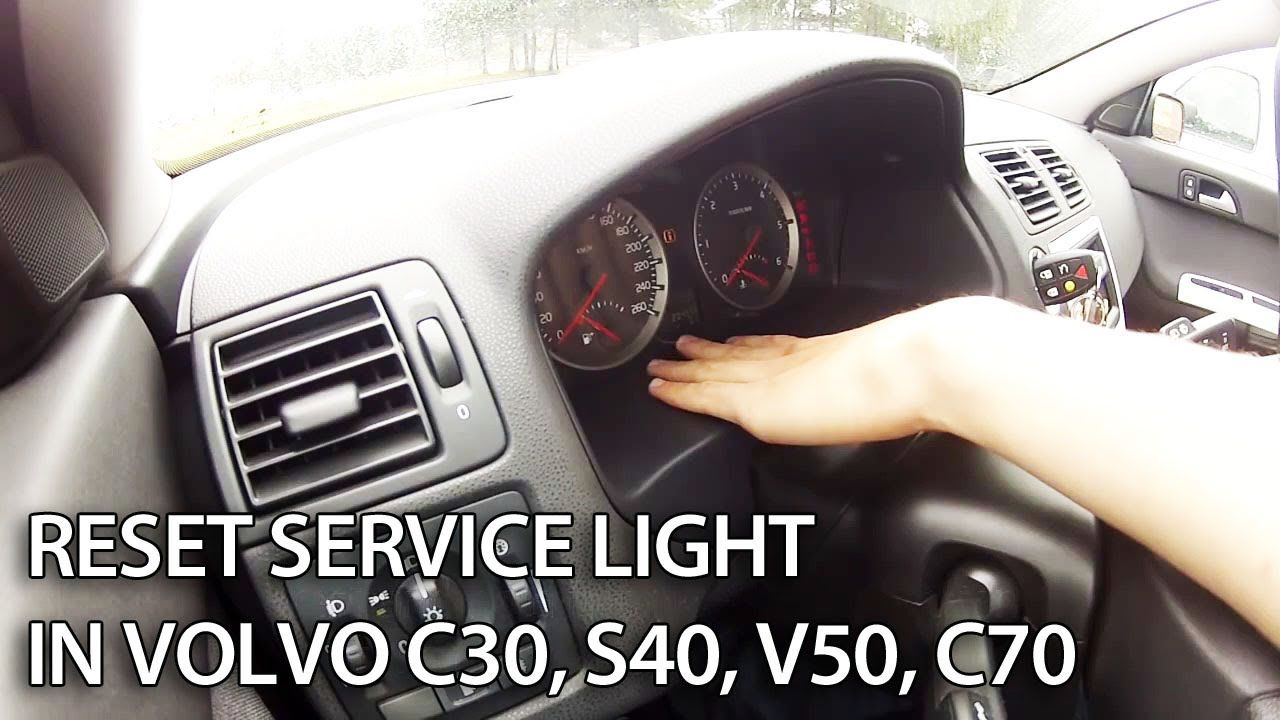 #Reset service light in #Volvo C30, S40, V50 and C70 This reset messages like: ENTRETEIN ...
