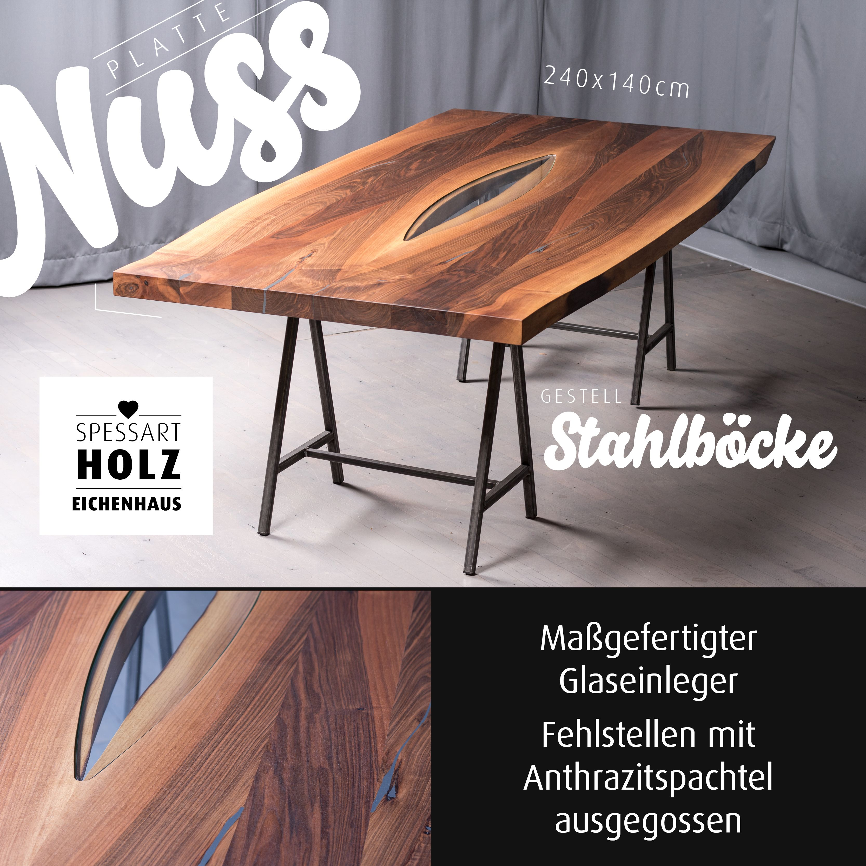 Pin auf Tisch & Stuhl