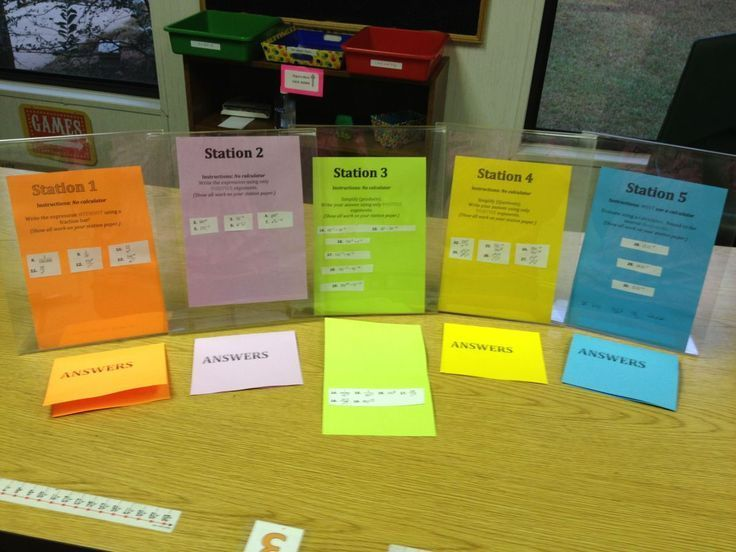 I LOVE Math Stations and wrote all about them before.  For easy…