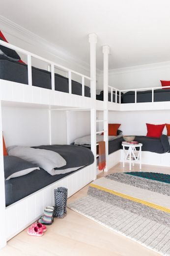 I Love The Idea Of Multiple Bunk Beds In A Room For Kids Or Adults