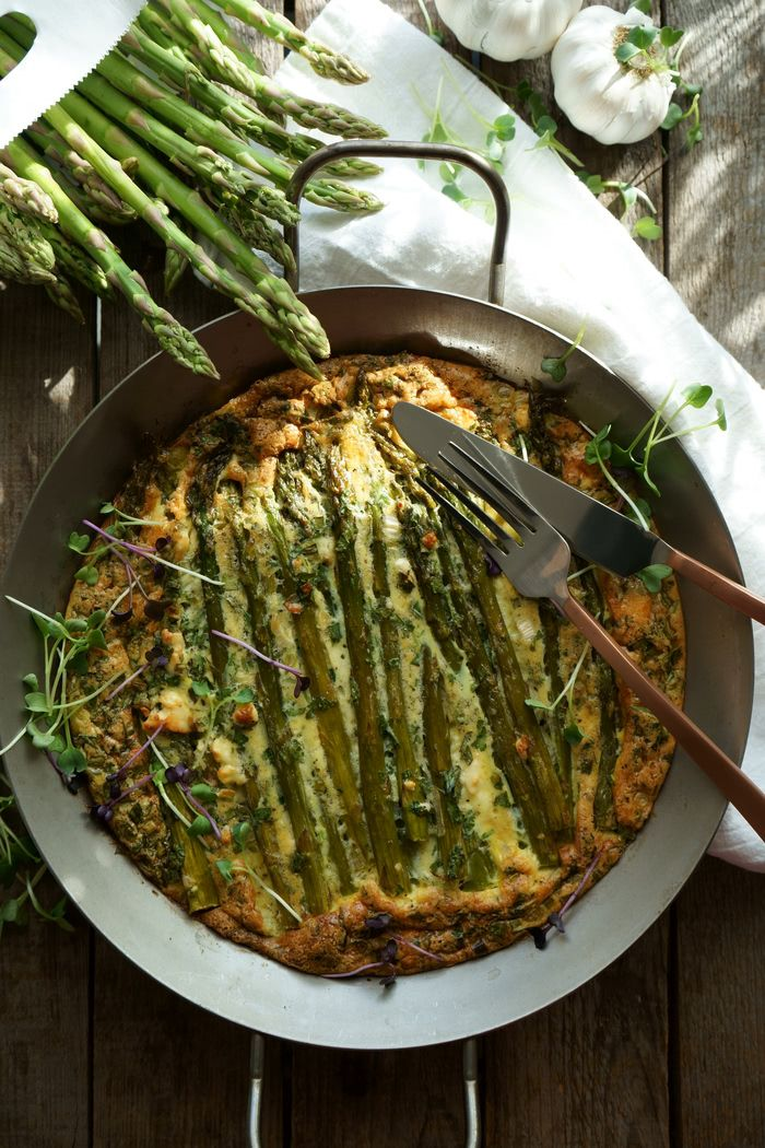 Grüne Spargel-Frittata low-carb - Lissi's Passion