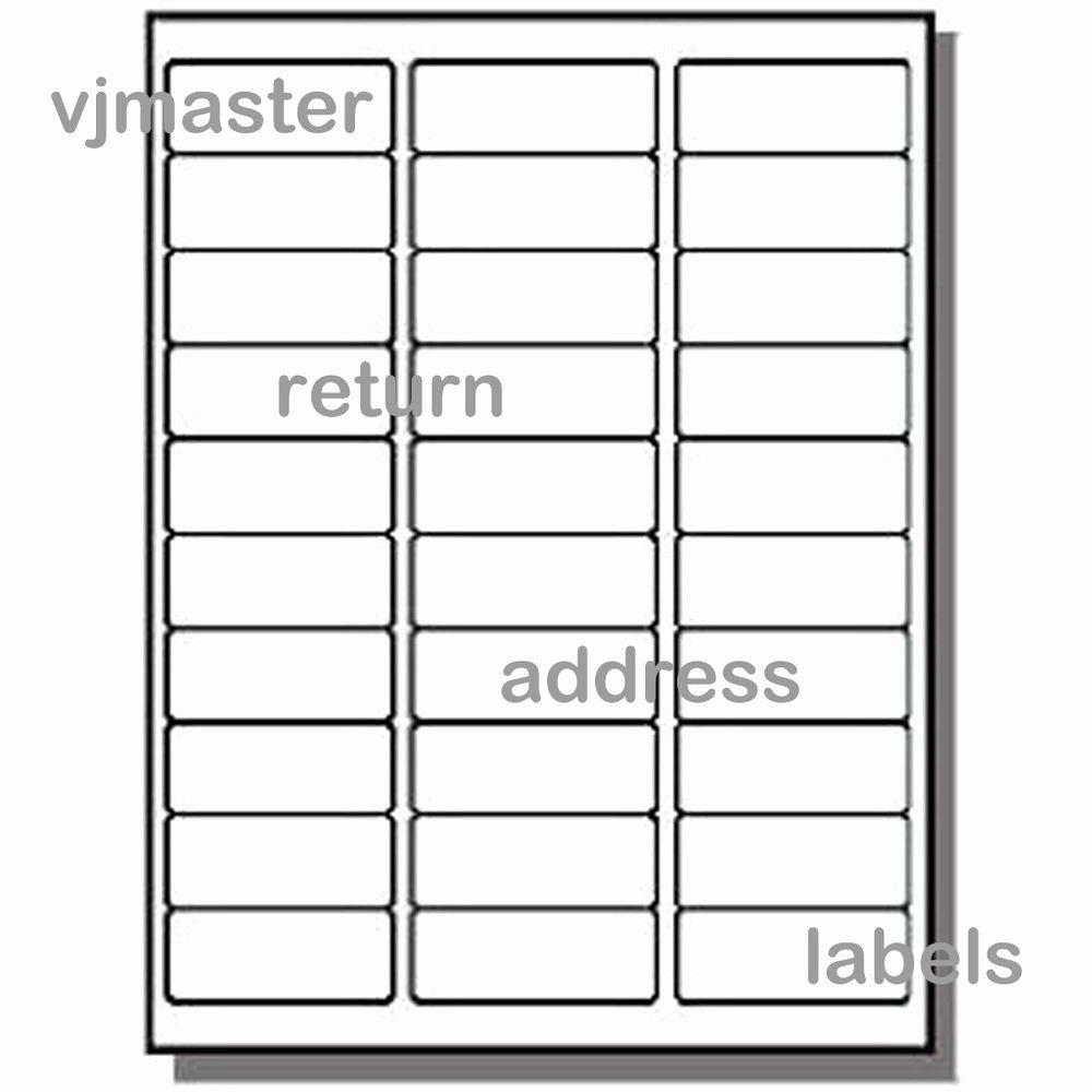 Mailing Labels 30 Per Sheet Elegant 3000 Address Labels 30 Labels Per Sheet 100 Sheets Label Templates Printable Label Templates Address Label Template Labels 30 per page template