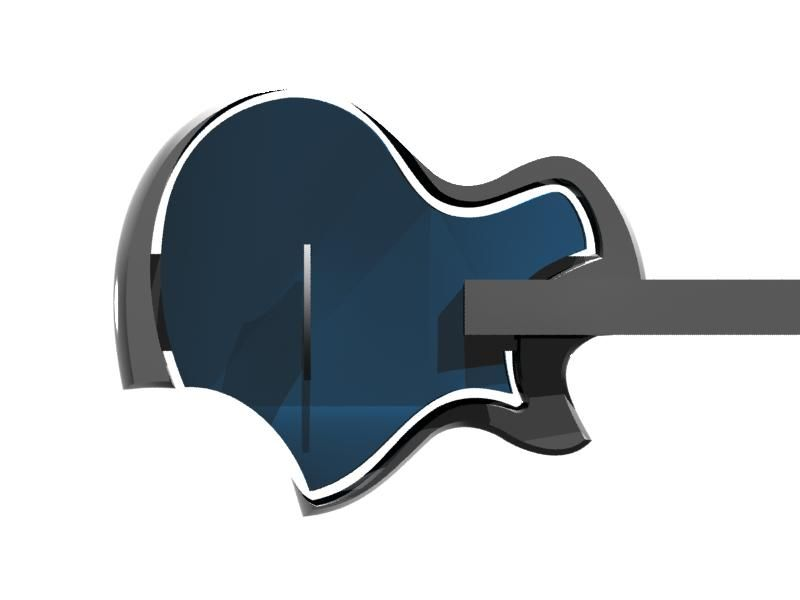 """Next"" jazz guitar design. Kuun"