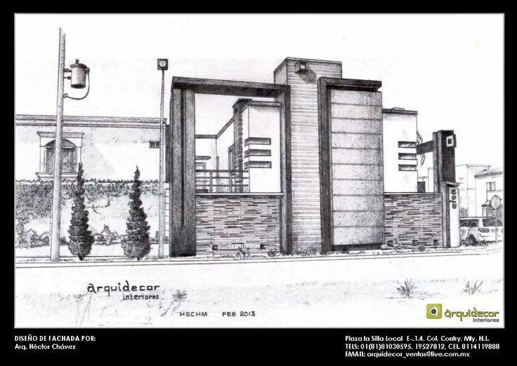 Vista lateral dise o de fachada para casa habitaci n b for Diseno de casa habitacion