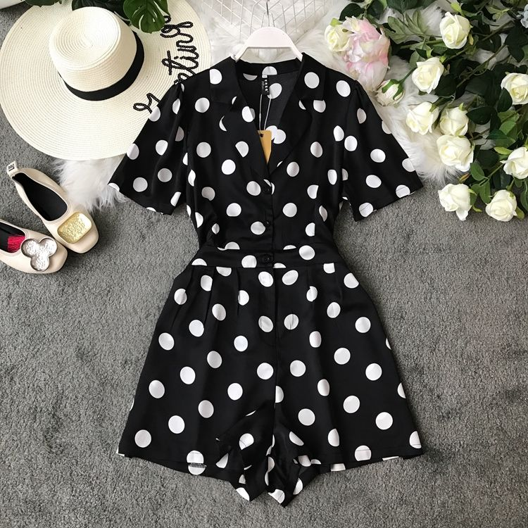 US $20.82 |Neploe 2019 Summer New V neck Jumpsuits Floral Print Chiffon Shorts Playsuits Buttons Design High waist Wide Leg Bodysuits 52220|Rompers| - AliExpress