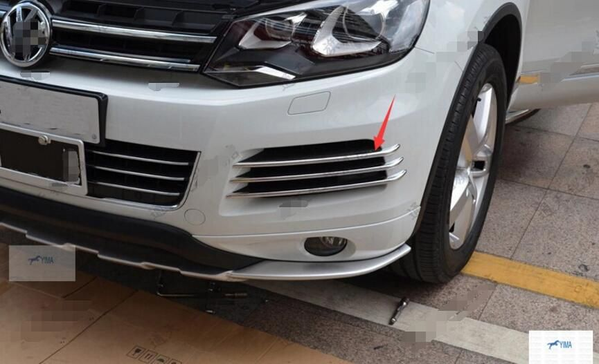 More Fashion For Volkswagon Touareg 2011 2013 Front Fog Light Lamp Side Grille Cover Trims Volkswagen Touareg Volkswagon Cool Things To Buy