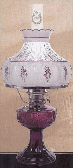 Amethyst Lincoln Drape Lamp W Nickel Plated Brass Burner C6183n Lamp Oil Lamps Aladdin Lamp