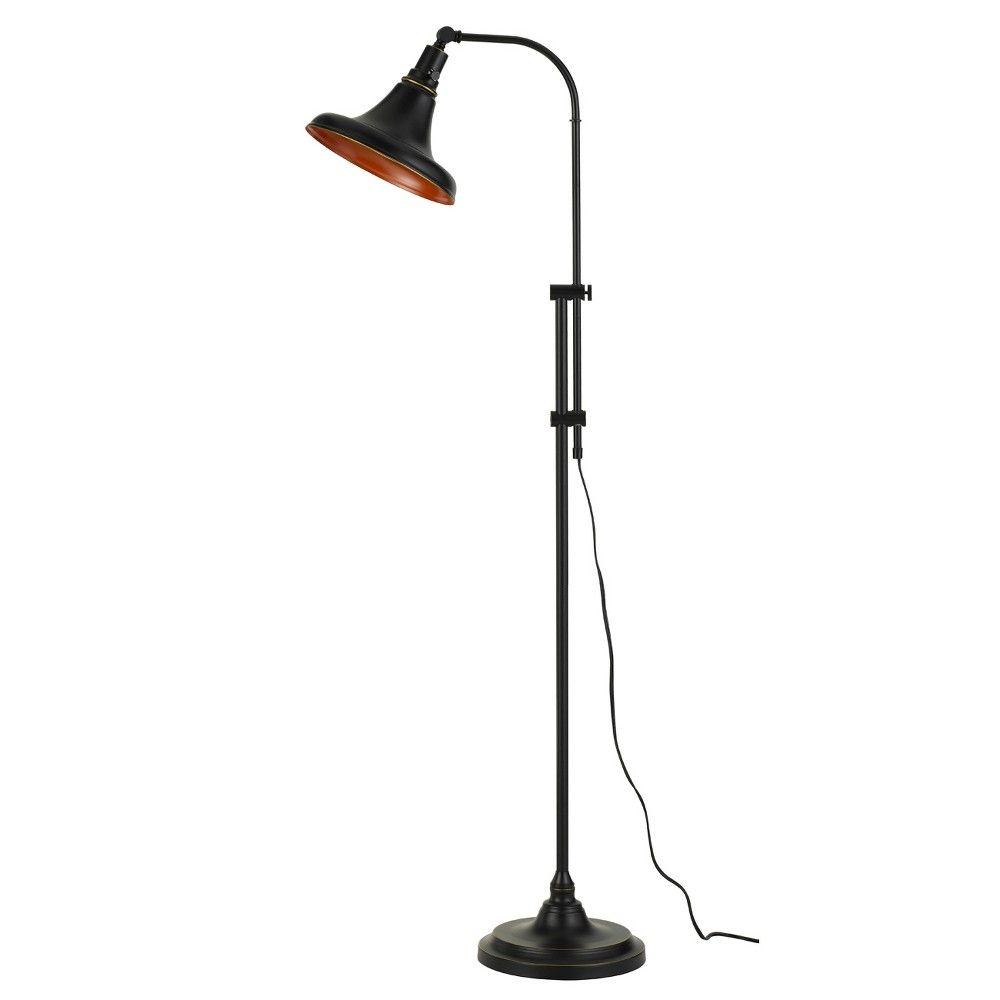 Taranto Metal Adjustable Floor Lamp Bronze 4 7 X2 2 Includes Energy Efficient Light Bulb Cal Lighting Adult Unisex In 2020 Bronze Floor Lamp Floor Lamp Tree Floor Lamp