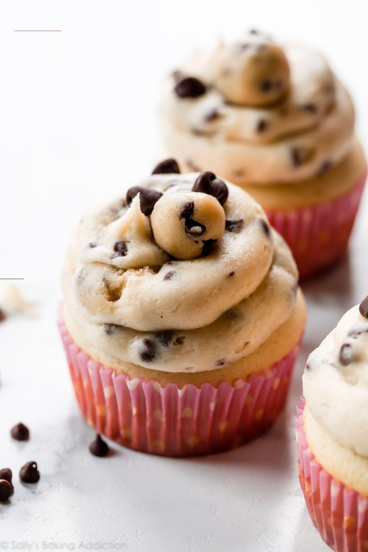 Molten Cookie Dough Cupcakes | Sally's Baking Addiction