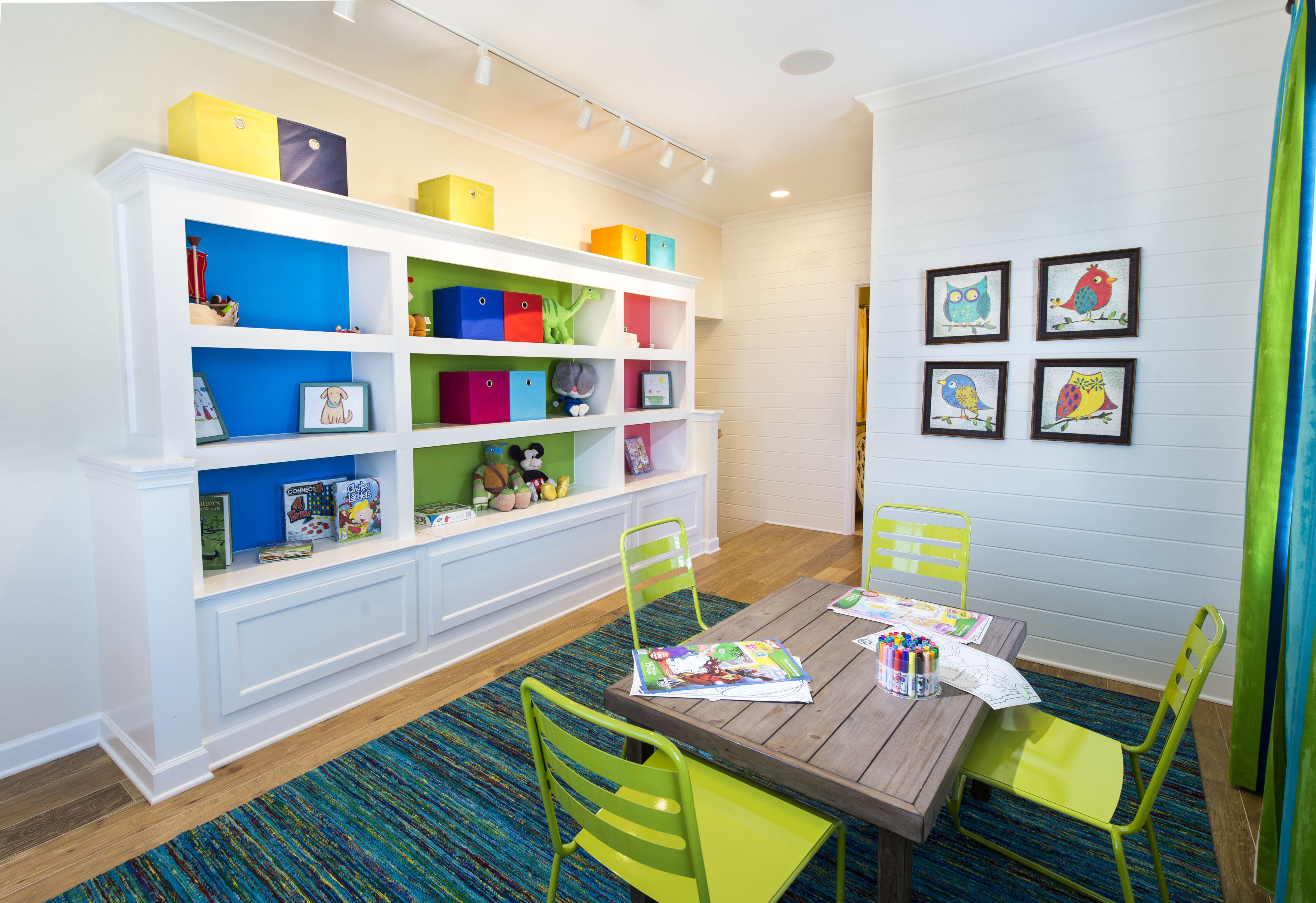 Design your playroom with bold splashes of color and bright decor that will keep your kids feeling happy! | Pulte Homes