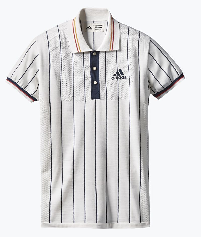 13ae66b114c52 Zverev Pharrell Adidas Striped Polo Shirt, Tennis Fashion, Pharrell  Williams, Us