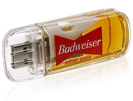Budweiser USB Flash Drive -Booze with your data? I don't suggest it but have at it.. ►►►Want To Plug Into More Cool Tech Stuff? ►►► Follow 3BakersIT on Facebook: http://bit.ly/Follow3BakersIT
