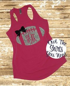 Football Mom tank top. Personalized by owltheshirtsyouneed on Etsy