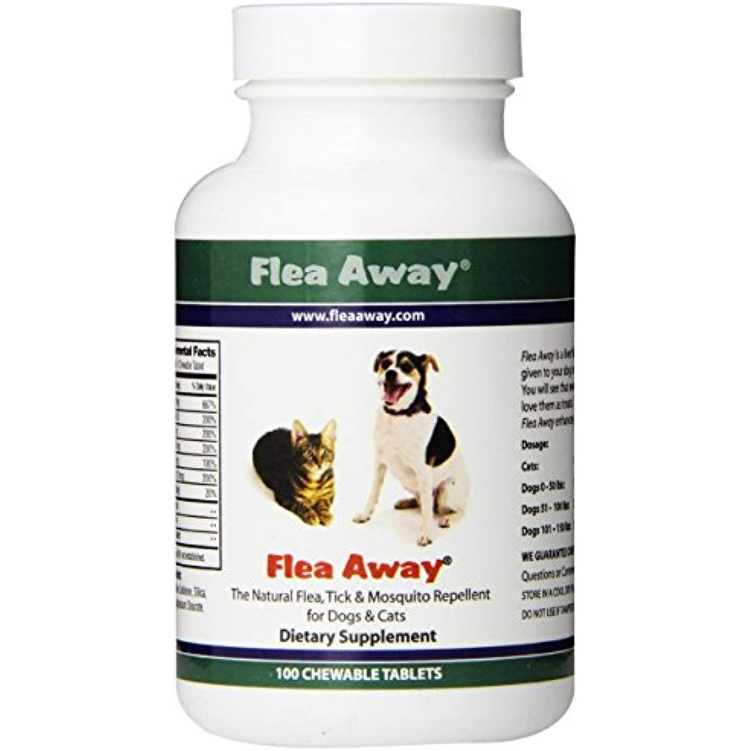Flea Away The Natural Flea Tick And Mosquito Repellent For Dogs And Cats 100 Chewable Tablets To View F Mosquito Repellent For Dogs Flea Repellent Fleas