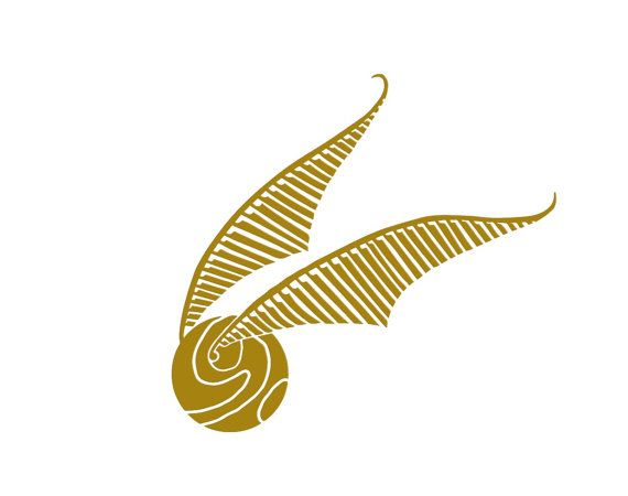 Harry Potter Golden Snitch Vinyl Wall Decal//Autocollant