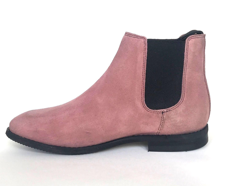 Celeris Letizia Dusty Pink Suede Boots Boots Chelsea Boots Suede Boots