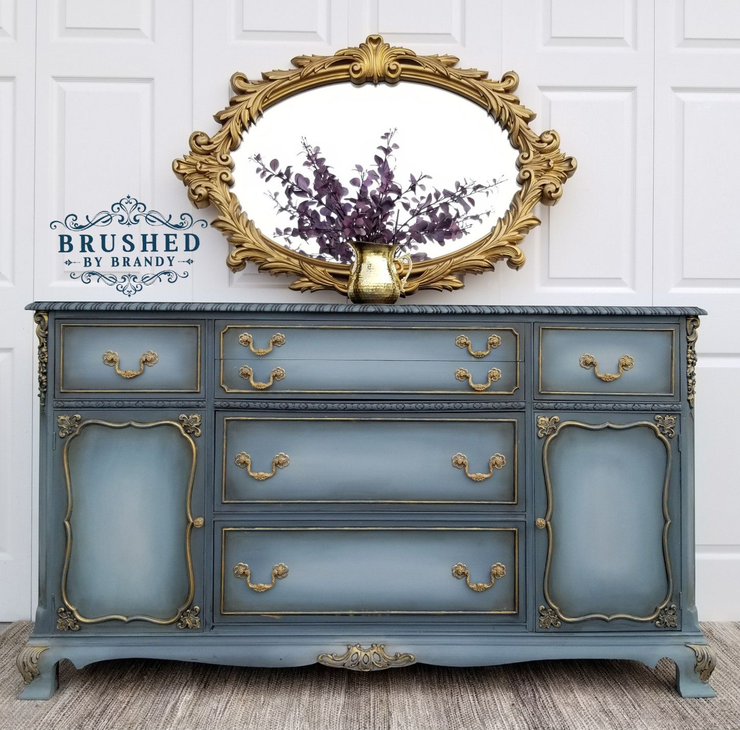 Blended Blue Buffet   Painted furniture, Dixie belle paint ...