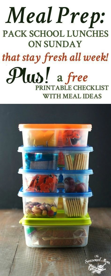 Prep How to Pack School Lunches on Sunday that Stay Fresh All Week! Meal Prep How to Pack School