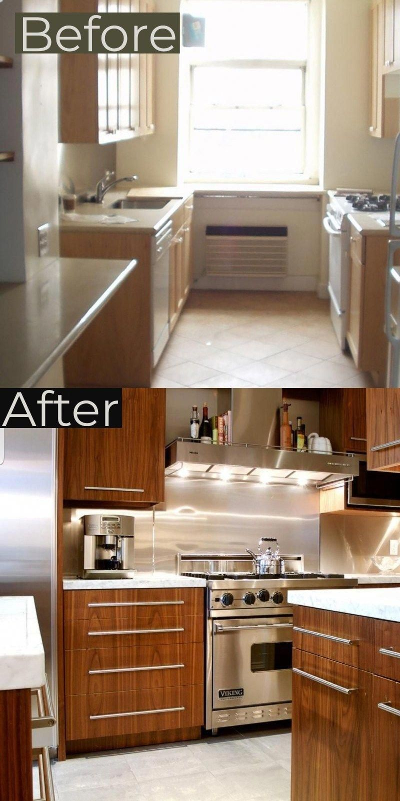 Galley Kitchen Remodel Before And After Ideas 2019 Trends #onabudget #small #beforeandafter #fixerupper #ideas #narrow #layout #joannagaines #open #island #homeremodelingpictures #galleykitchenlayouts