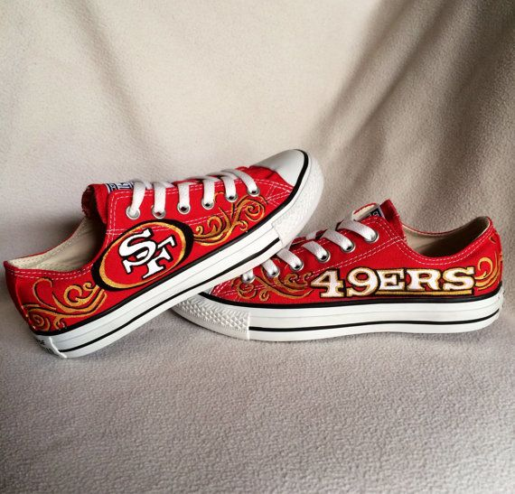 Custom hand painted San Francisco 49ers converse shoes