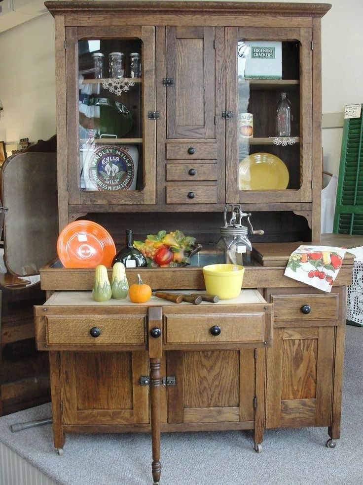 Dry Sink With Zinc Sink | Turn Of The Century Oak Kitchen Cabinet With Zinc  Dry Sink And Pull .