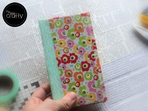 Tutorial funda para el m vil tipo libro con washi tape - Decorar funda movil ...