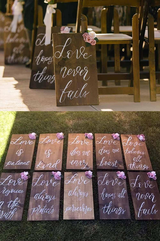 Bible Verse Wedding Aisle or Reception Decor (8 signs, 9 x 12)   Wedding Products from MyOnlineWeddingHelp.com